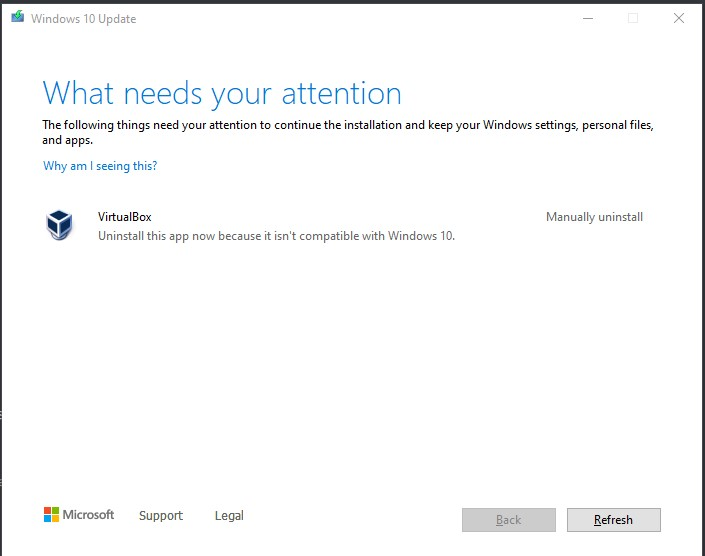 Solve an issue where what needs your attention will appear when Windows 10, version 20H2 is upgraded