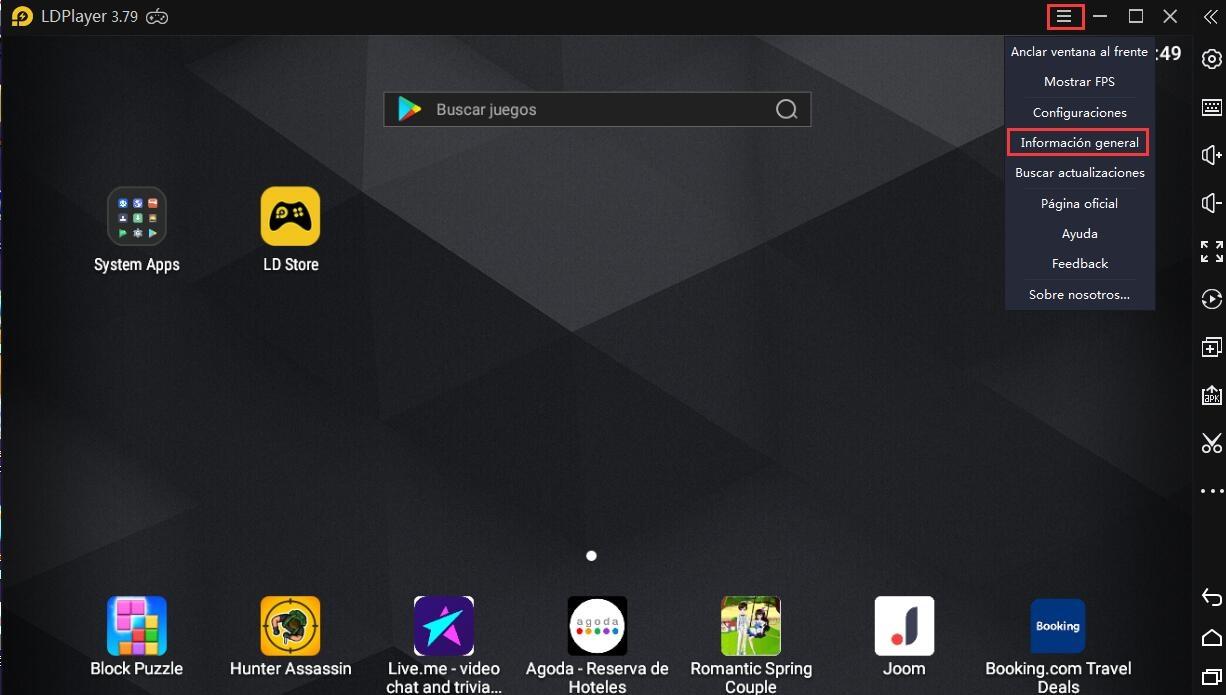 Cómo ver la configuración de PC en LDPlayer