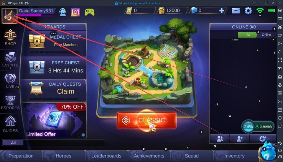 Bagaimana penghubung rekening di Mobile Legends:Bang Ba