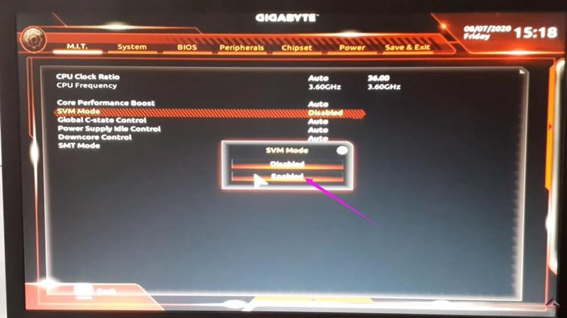 Aktifkan Teknologi Virtualisasi (VT) di komputer dan motherboard GIGABYTE