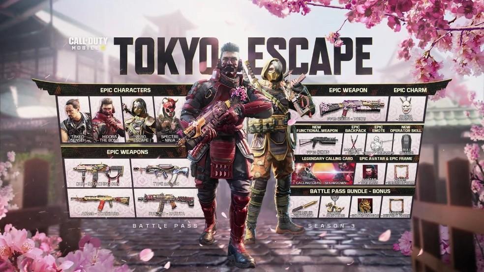 "Call of Duty: Mobile 3ª temporada ""Tokyo Escape"