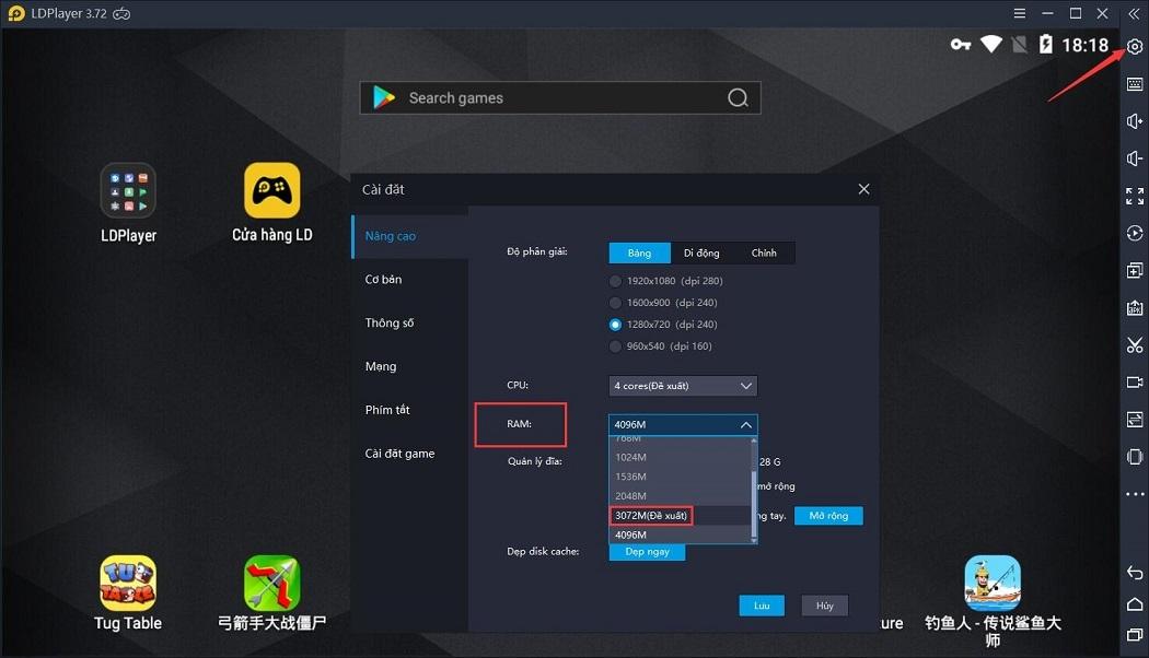 Thông tin cập nhật về phiên bản 3.72 LDPlayer